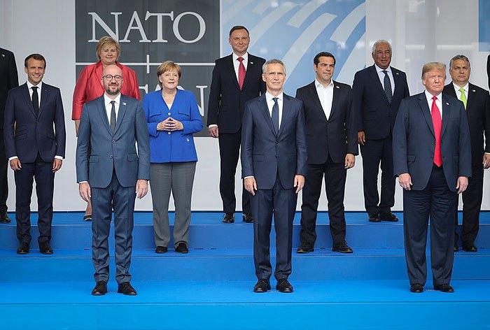 Лидеры стран НАТО во время саммита в Брюсселе, Бельгия, 11 июля 2018.