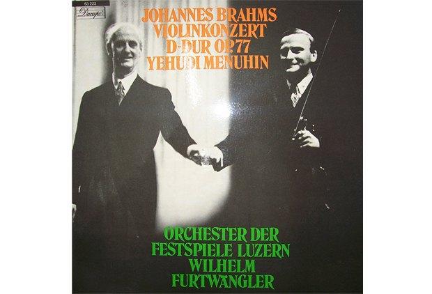 Обложка пластинки с записью выступления Менухина с Вильгельмом Фуртвенглером