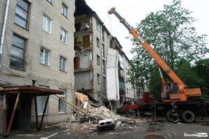 В Луцке обрушился подъезд пятиэтажного дома, есть погибшие (Обновляется)