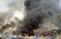 В Киеве горел не рынок, а бытовки строителей