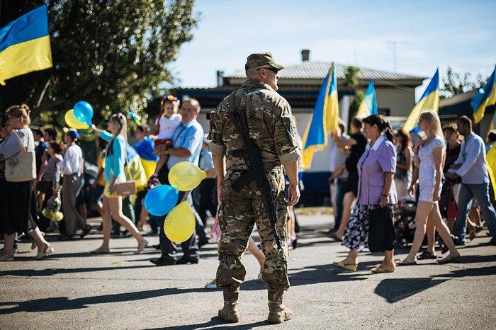 Cвяткування Дня Незалежності України в Слов'янську, 24 серпня 2014.