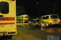 ДТП в Киеве: тройное стокновение на Алма-Атинской
