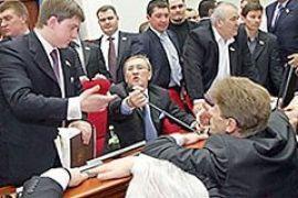 Блок Кличко заблокировал сессию Киевсовета