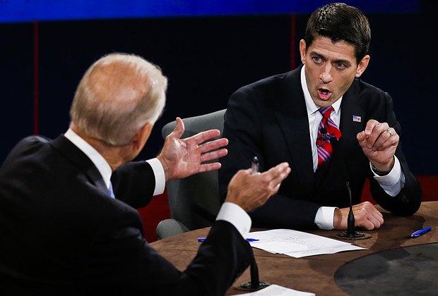 Республиканец Пол Райан отражает нападки демократа Джо Байдена