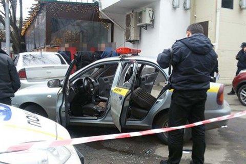 В Киеве напали на машину частной охранной фирмы