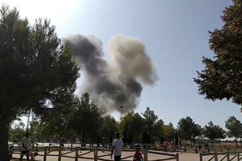 Возле Мадрида разбился истребитель: пилот погиб