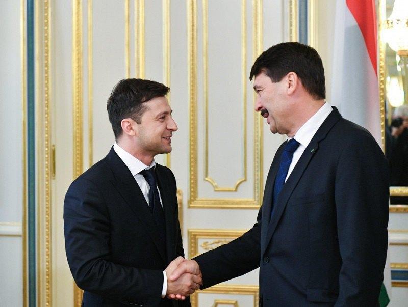 Президент України Володимир Зеленський і президент Угорщини Янош Адер