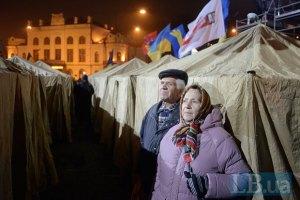 Палаточный городок на Европейской площади прекращает свое существование