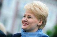 Порошенко і Грибаускайте привітали одне одного з перемогою на виборах президента