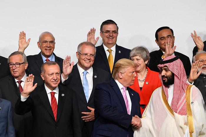 Во время саммита G20 в Осаке, западная Япония, 29 июня 2019.