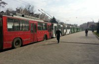 Во Львове бастуют водители троллейбусов и трамваев