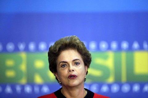 Відсторонена від влади президент Бразилії назвала процес імпічменту фарсом