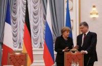 """Порошенко і Меркель ініціюють зустріч голів МЗС """"нормандської четвірки"""""""