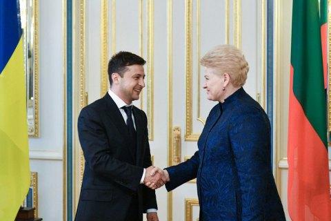 Зеленський обговорив з Грібаускайте рух України на шляху до членства у ЄС та НАТО