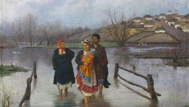 «Повінь», 1880. Олія, полотно.