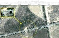 На спутниковом снимке нашли нецензурную надпись о Путине на трассе у Новоазовска