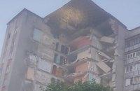 В молдавском городе обрушилась часть 9-этажного жилого дома