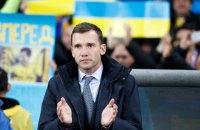 Сборная Украины потеряла шесть позиций в рейтинге ФИФА