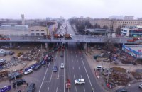 Шулявський шляхопровід випробували навантаженням, Кличко в цей час стояв під ним