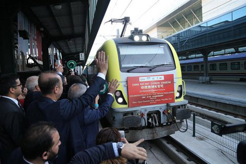 Успех железной дороги из Европы в Китай через Турцию