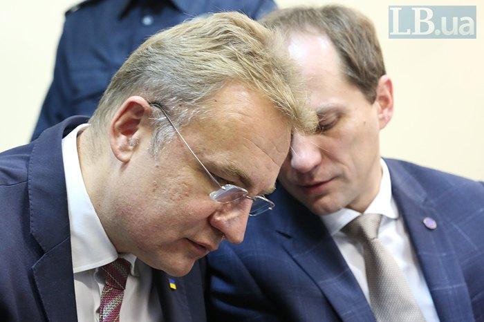 Андрій Садовий та адвокат Юліан Хорунжий