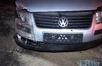 В Киеве автомобиль с номерными знаками МВД протаранил Honda