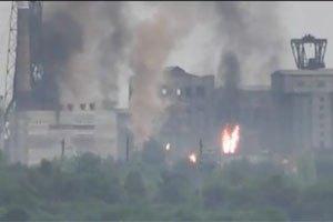 МЧС назвал пожар на Горловском коксохиме технологическим процессом