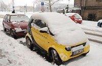 Европу засыпало снегом