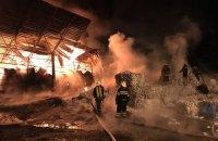 В Харьковской области горел завод по переработке пластика
