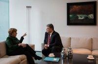 Порошенко на следующей неделе обсудит с Меркель участие Германии в урегулировании на Донбассе
