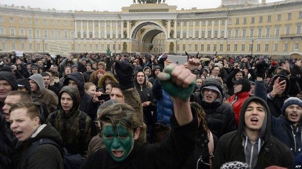 Антикоррупционный митинг в Санкт-Петербурге, 26 марта 2017 года