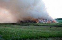 Под Харьковом горит полигон бытовых отходов