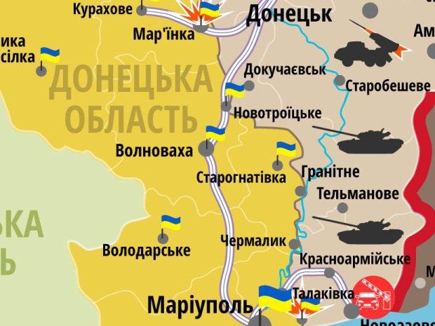 Карта бойових дій за 2 червня (РНБО)