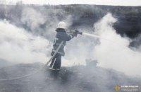 В Тернополе произошло крупное возгорание камыша вдоль Серета