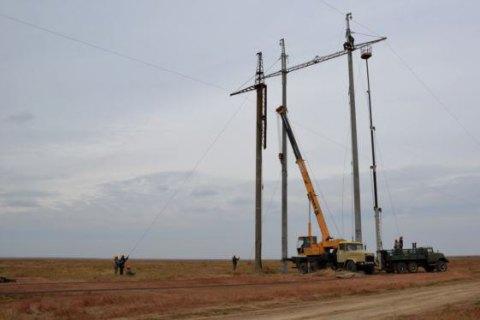 Відключено одну з чотирьох високовольтних ліній у Криму