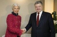 Порошенко обговорив з главою МВФ ситуацію з Приватбанком