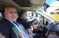 Порошенко прокатил болгарского премьера по трассе Одесса-Рени