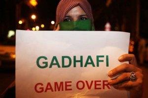 По бункеру Каддафи ударили ракетами
