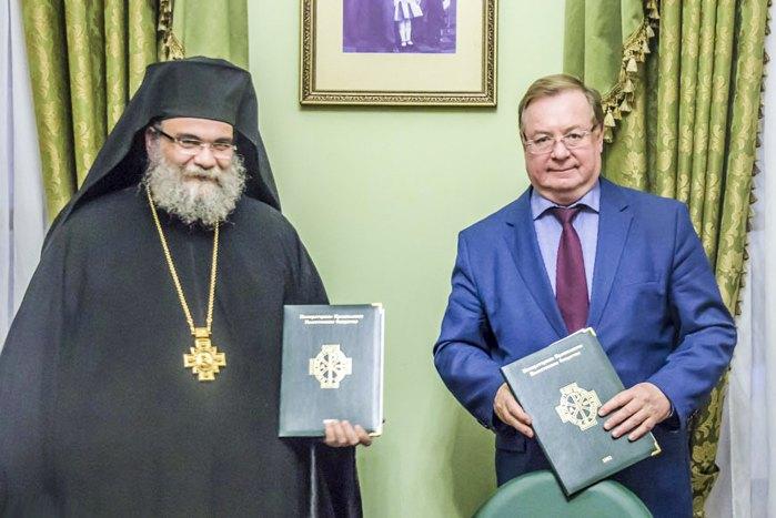 Ексдиректор ФСБ Сергій Степашин і митрополит Тамасовський Ісая