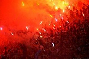 """МВД: фаны """"Днепра"""" пронесли файеры на стадион в интимных местах"""