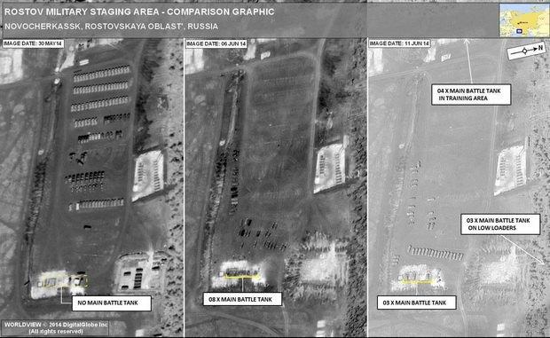 Российские танки: 30 мая - ни одного, 11 июня - десять