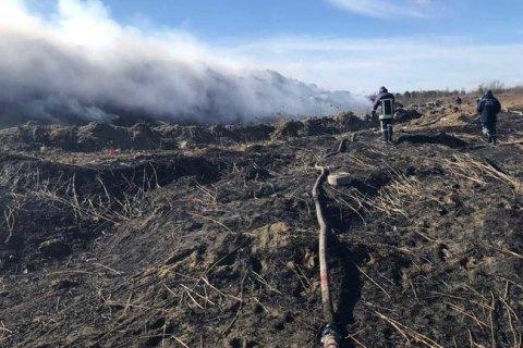 Біля Львова загорілося сміттєзвалище