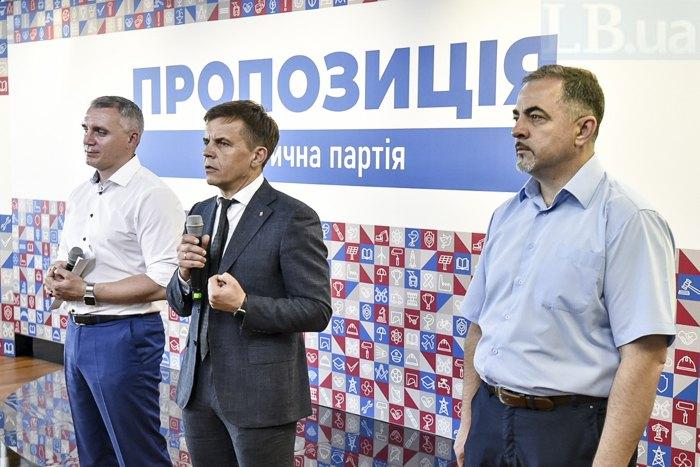 Cправа-налево: Андрей Дяченко, Сергей Сухомлин, Александр Сенкевич.