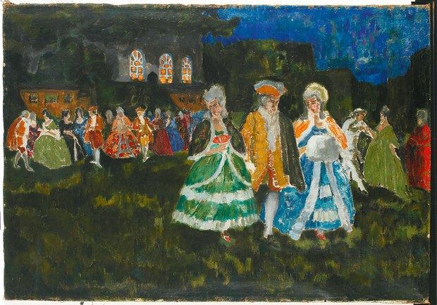 Ісаак Малік. Версаль вночі,1916