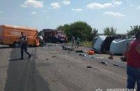 У Миколаївській області зіткнулися пасажирський і вантажний мікроавтобуси