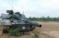 В Черниговской области проходят испытания модернизированного танка Т-72