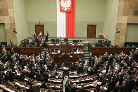 Опозиціонери заблокували роботу польського Сейму через журналістів