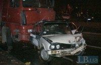 ДТП в Киеве: водитель BMW выехал на встречку и столкнулся с двумя автомобилями