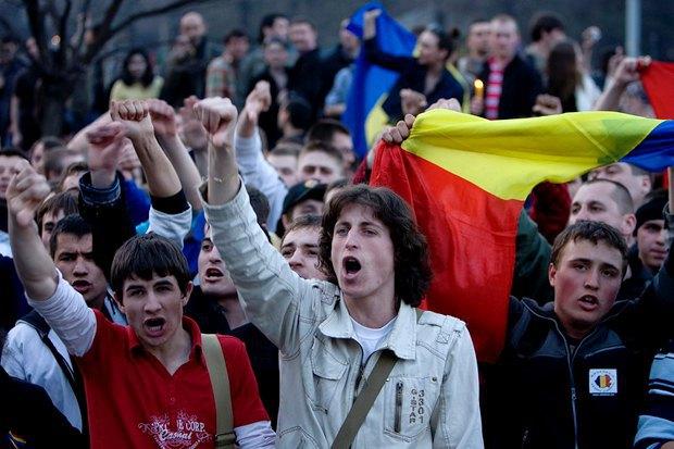 Протесты в 2009-м в Молдове
