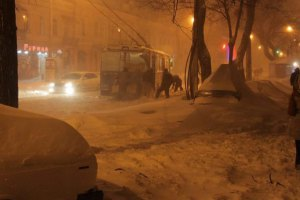 Через сильний снігопад у Москві затримуються 140 рейсів